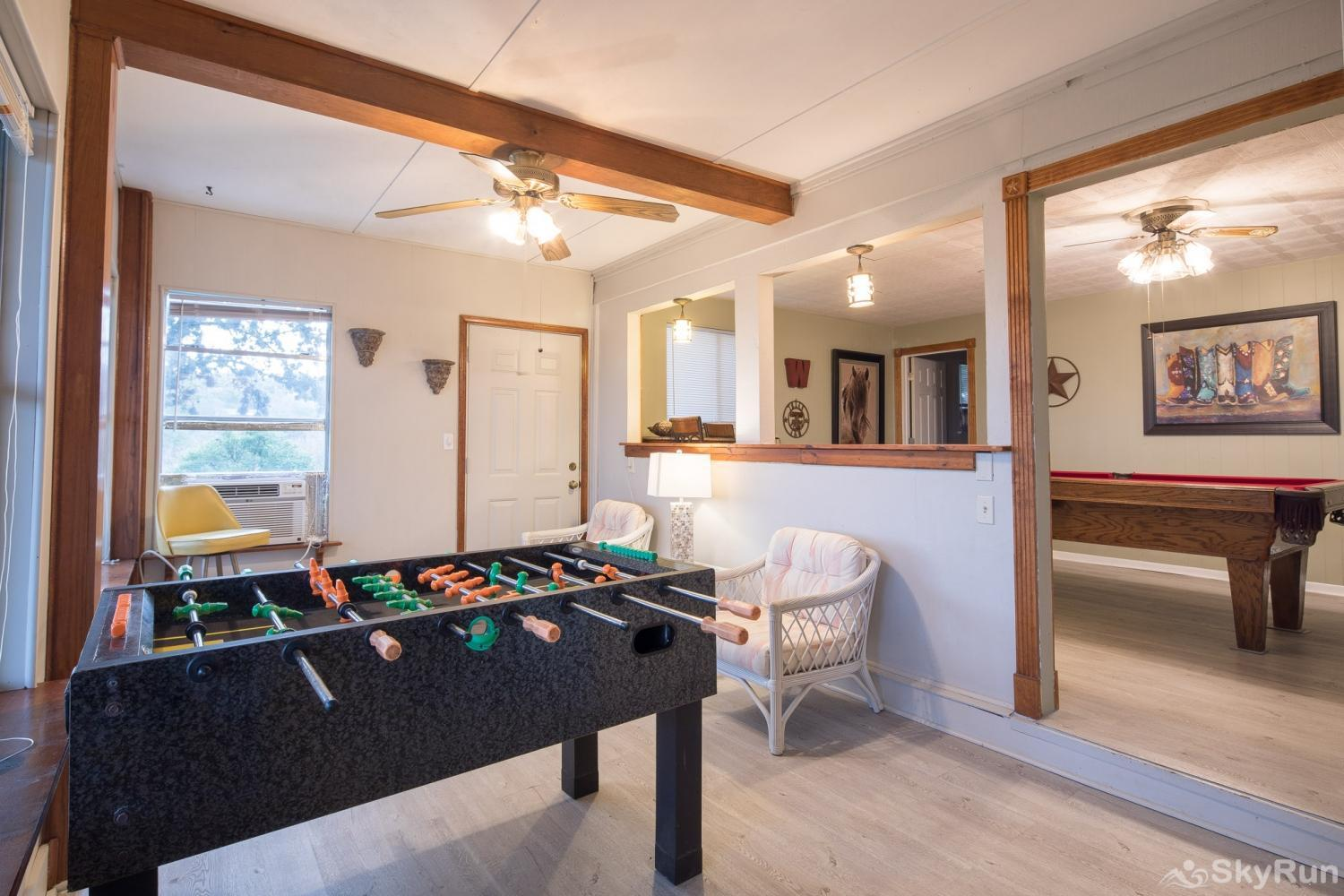 TEXAS ROSE LODGE Foosball table in downstairs game room