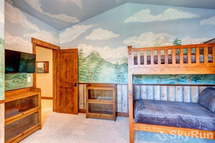 Swan River Retreat Bedroom #2 - Bunk room with fun mural painting