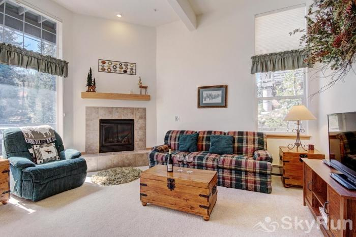 A5 Gore Trail Living area features queen sofa sleeper  & HD TV.