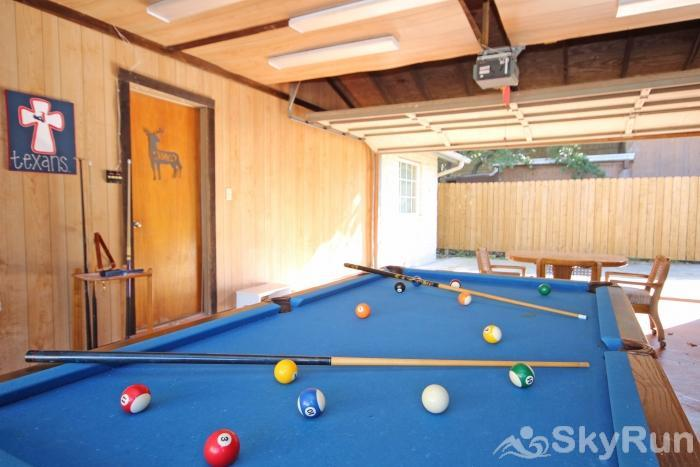 PLAYA DEL SOL Fun Pool Table in Garage