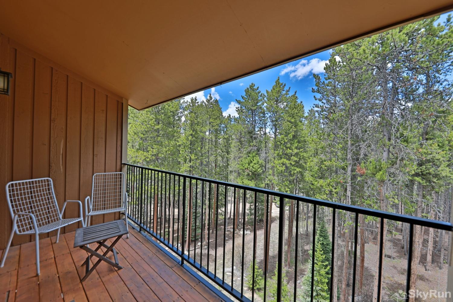 Beaver Village 16-31 Private Balcony nestled in the trees