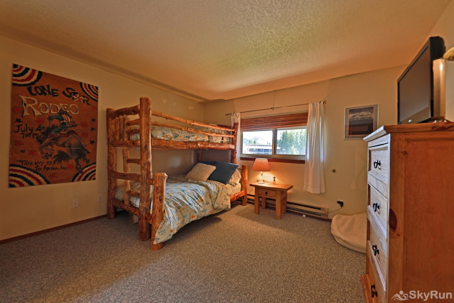Beaver Village 16-31 Bedroom #2 with twin over full bunk