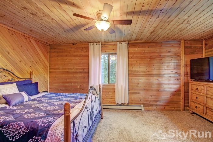 Gasthaus Breck Master suite features a flat screen TV and gorgeous mountain views