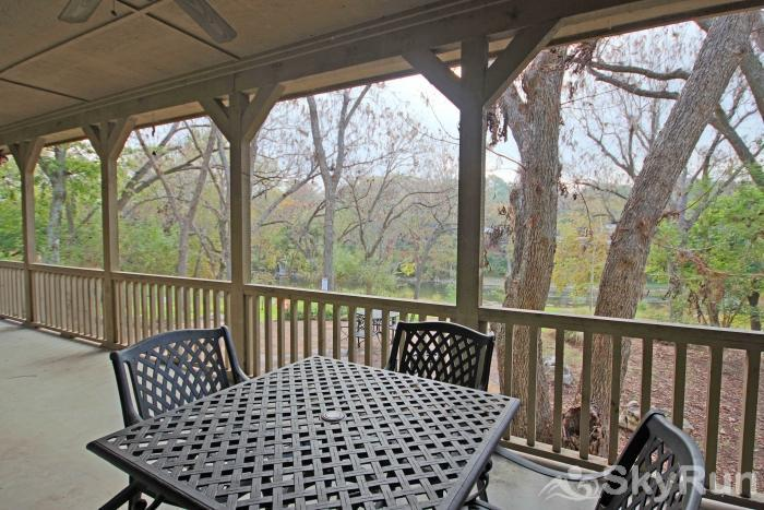MARICOPA RIVER RESORT Covered Back Patio Overlooking the Guadalupe