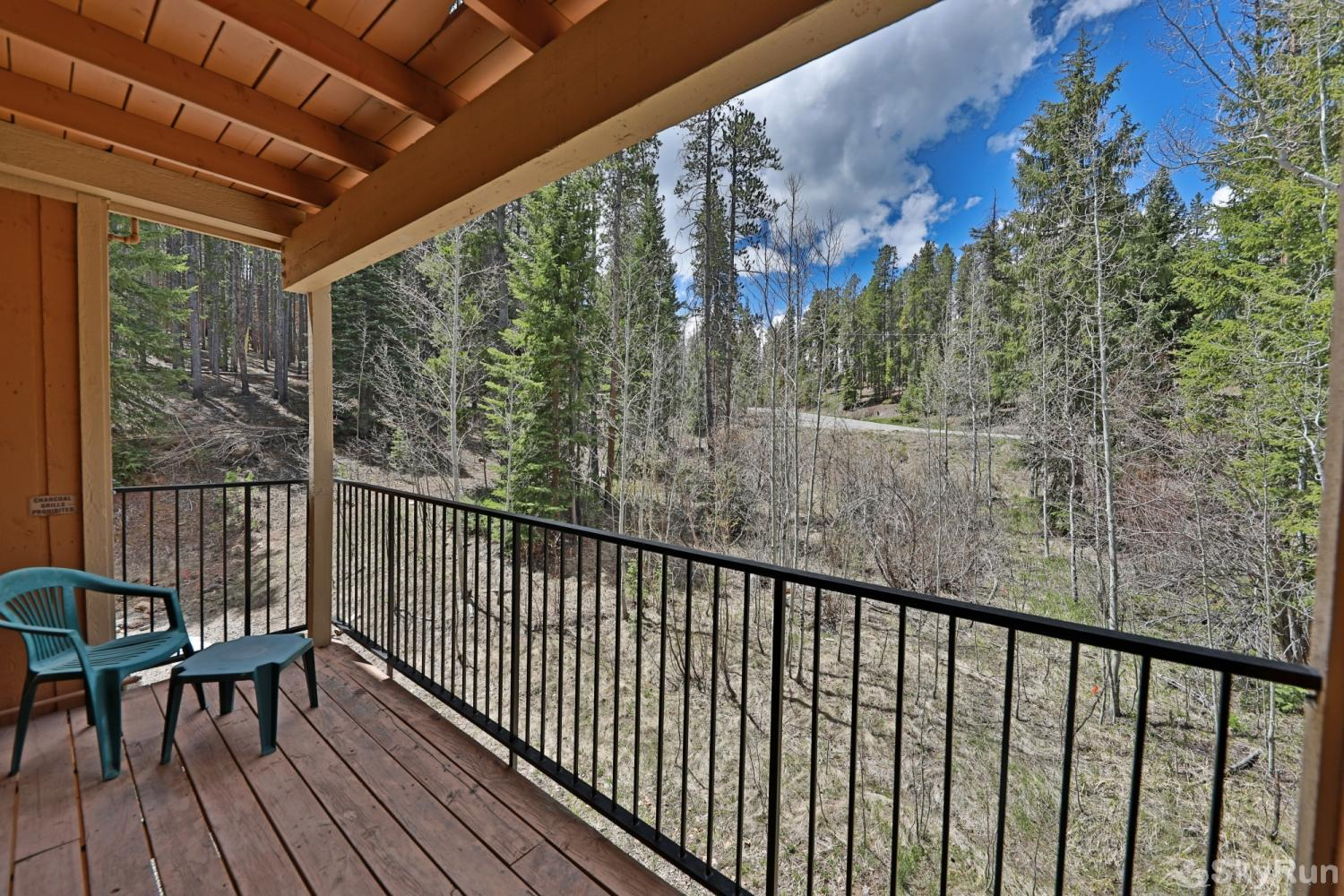 Beaver Village 4-22 Private Balcony nestled in the trees