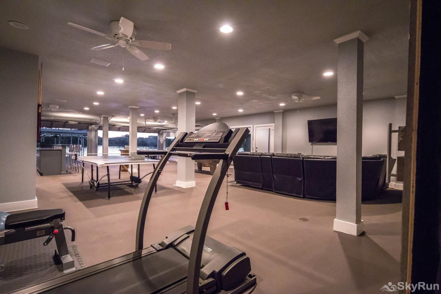 PARADISE POINTE Workout Space with Treadmill