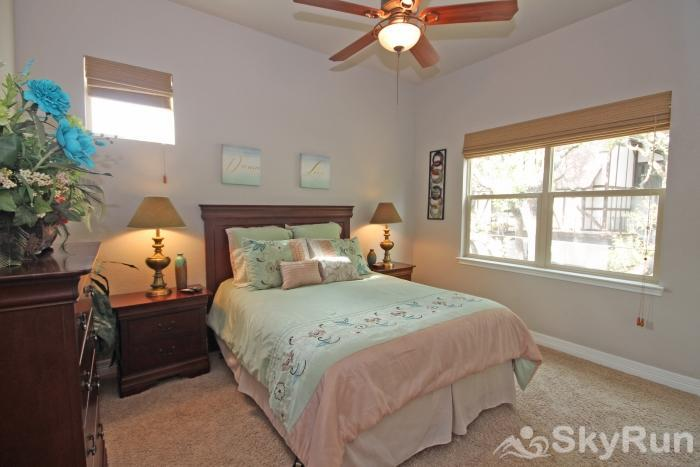 THREE'S A CHARM Second Bedroom with Queen Bed