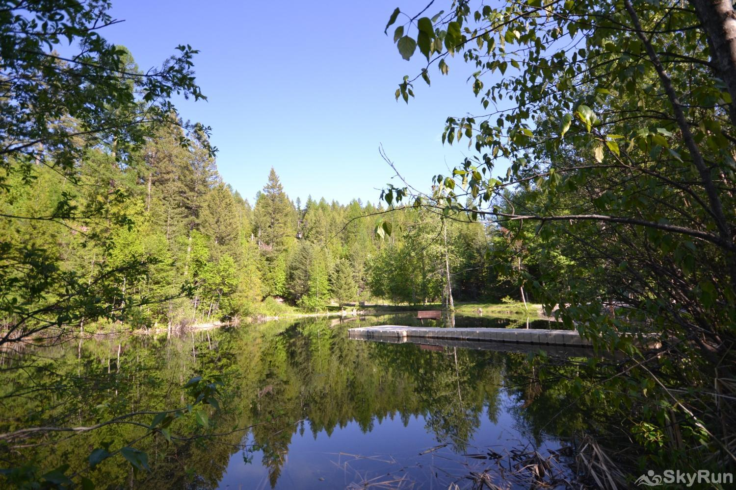 Ptarmigan Village 86 Elmer Pond (10 seconds away from #86); stocked with trout each spring