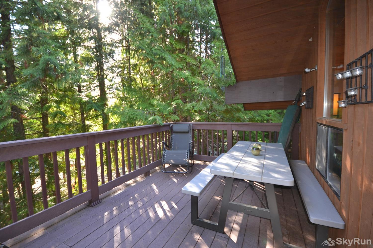 Ptarmigan Village 86 Shaded deck off living room