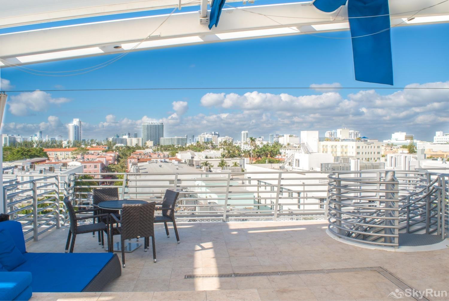 Penthouse De Soleil South Beach - on Ocean Drive Miami Beach CITY VIEW FROM ROOFTOP