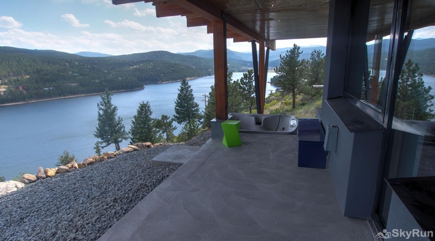 Timberline Haus view of lake below deck