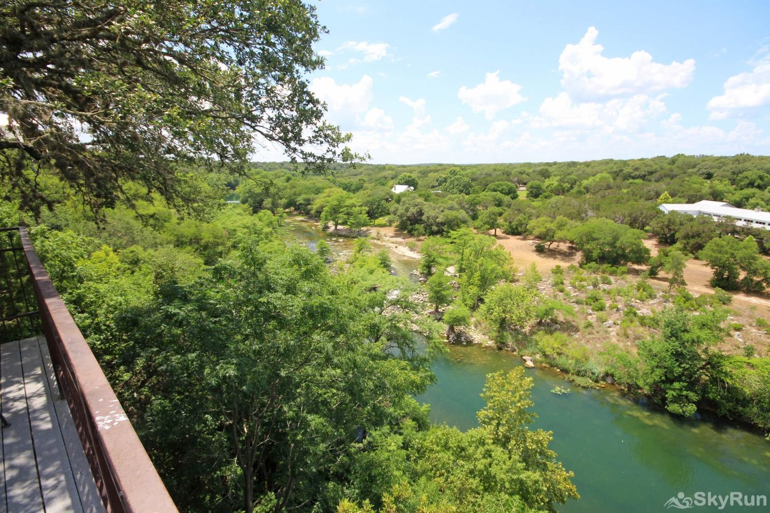 GRUENE VISTA ON THE GUADALUPE Beautiful View of Guadalupe River from Deck