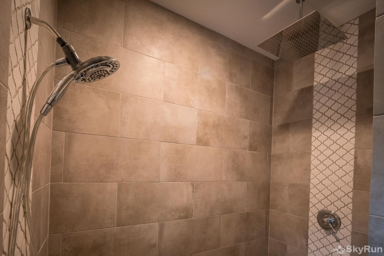 MAGNOLIA HAUS Master Shower with Rainfall Shower Head