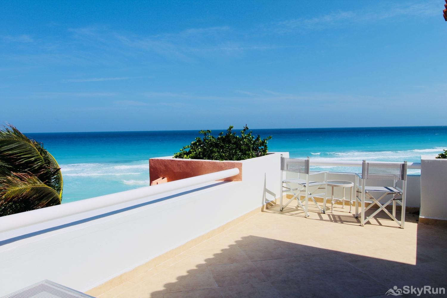 Best Beachfront Private Villa , 4Bdr | Omni Cancun Hotel and Villas PRME location Resort Kinich Villa 33 View from 3rd Floor Master