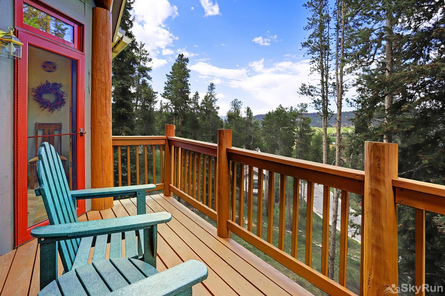 Elk Ridge Retreat Private balcony with stunning scenic views