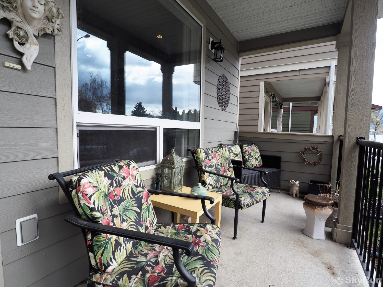 Old Summerland 3 bedroom home Great porch to enjoy morning coffee and take in the view