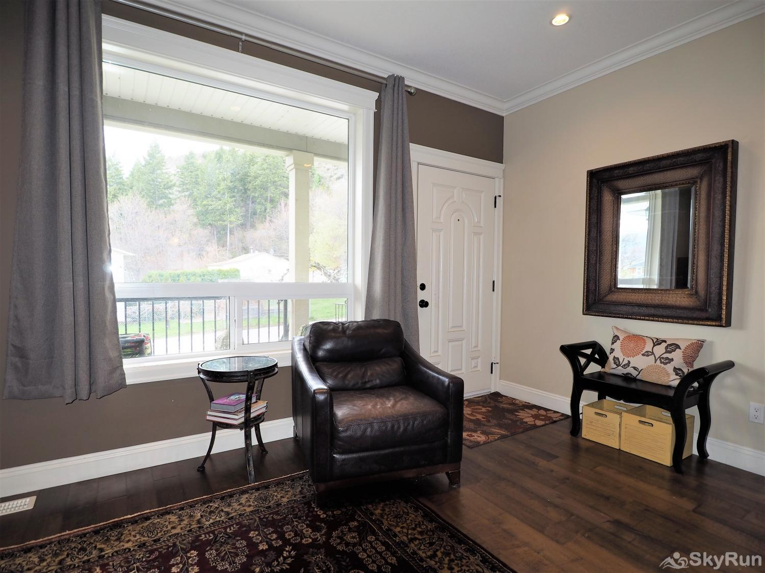 Old Summerland 3 bedroom home Beautiful view from the large window in the living room
