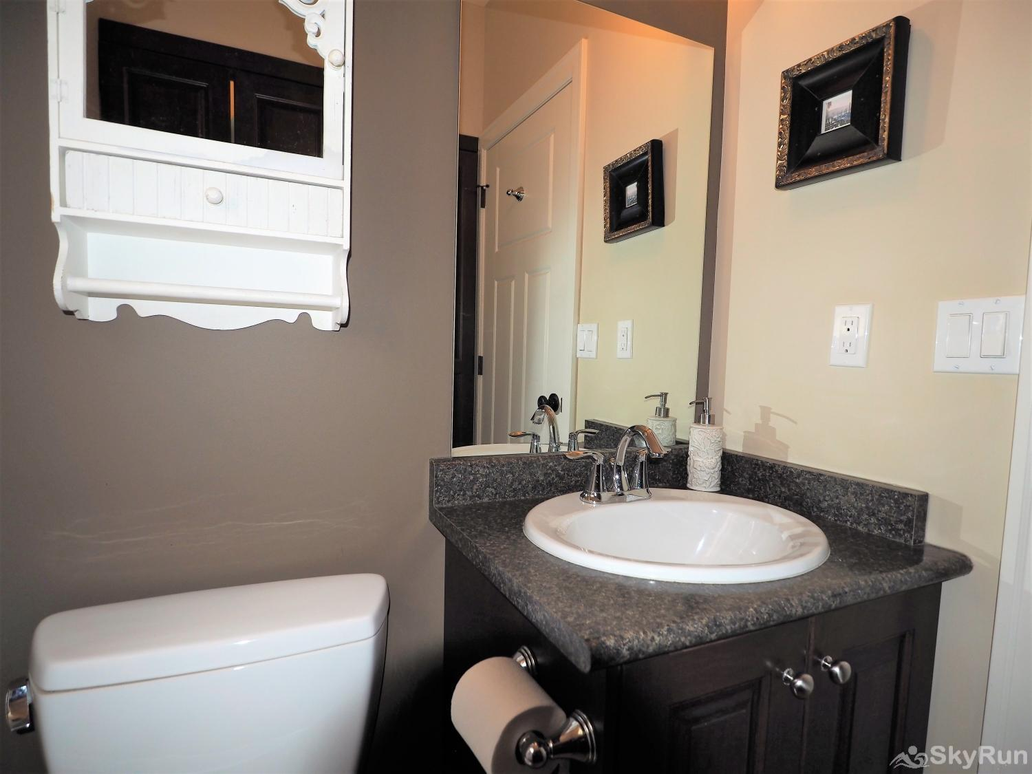 Old Summerland 3 bedroom home convenient powder room off the living room