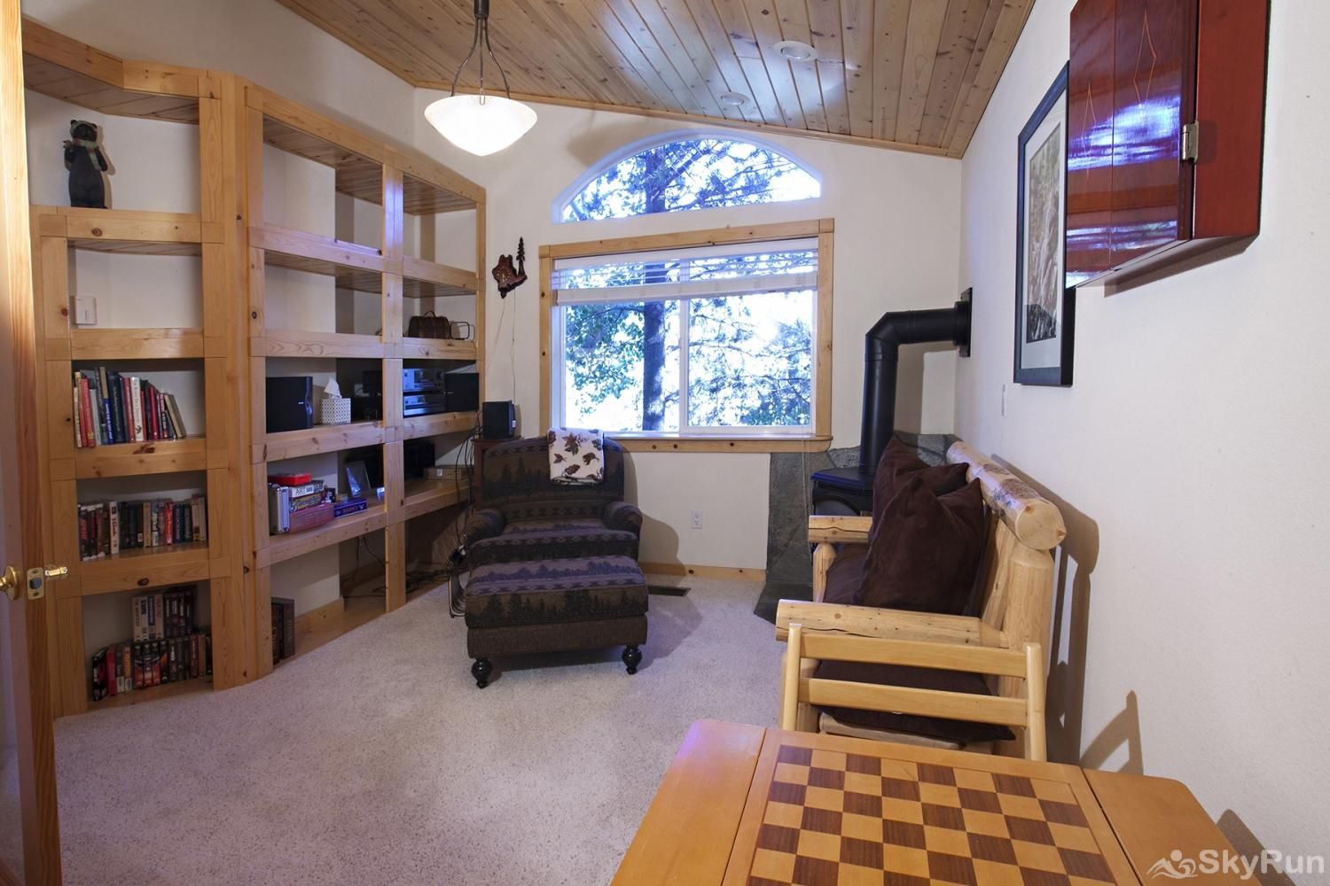 Alder Creek Mountain Home at Tahoe Donner Game/Reading Room