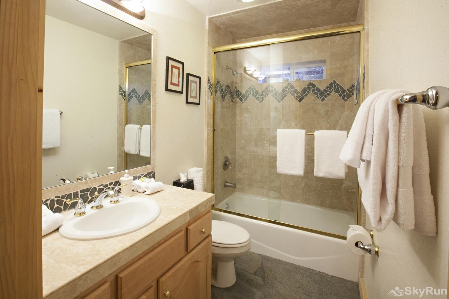 Alder Creek Mountain Home at Tahoe Donner Shared Guest Bathroom