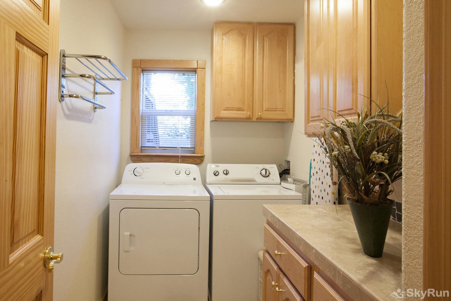Alder Creek Mountain Home at Tahoe Donner Laundry Room