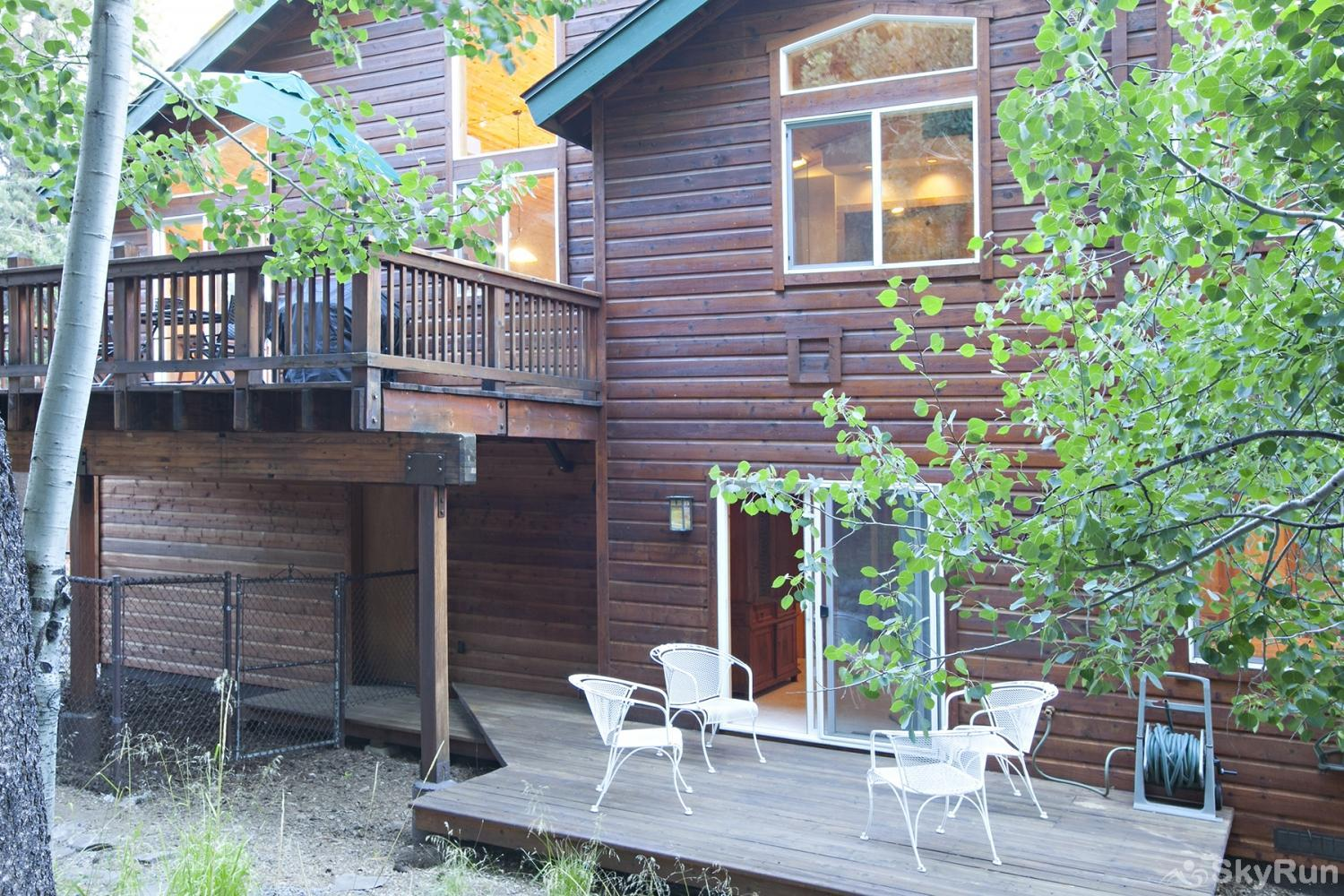 Alder Creek Mountain Home at Tahoe Donner Backyard exterior view