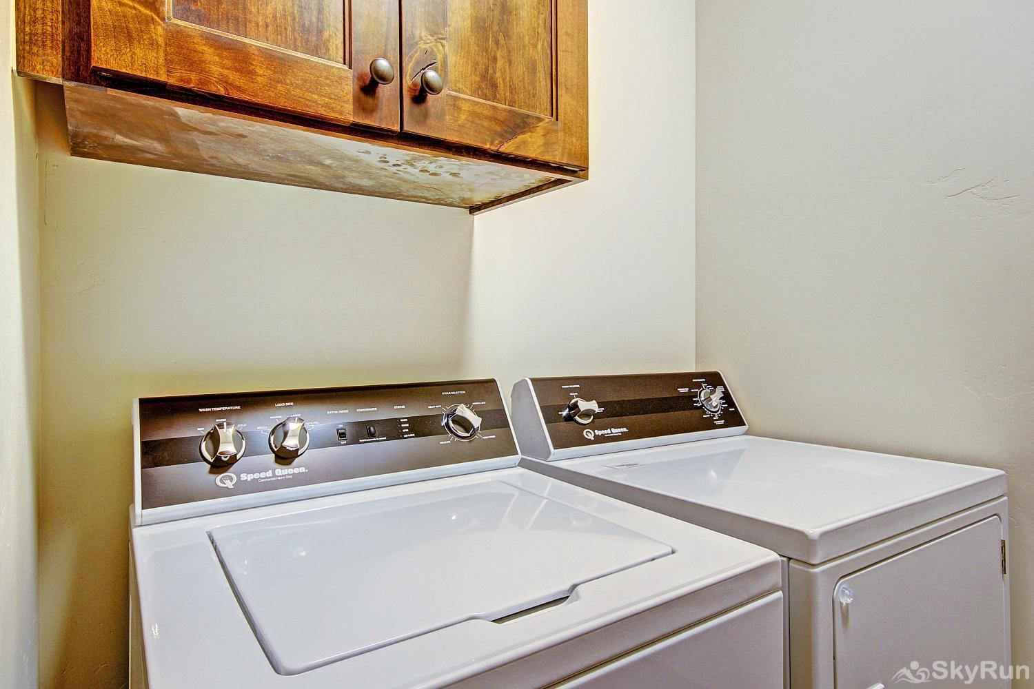 River's Edge Retreat Convenient in-home washer and dryer