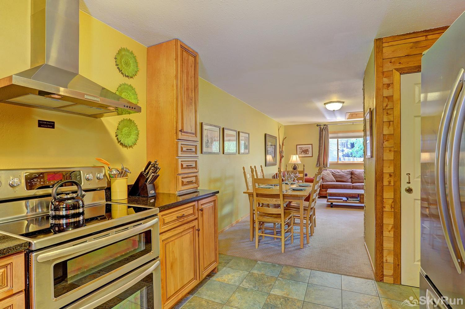 Imperial View Cottage Kitchen opens up to dining area