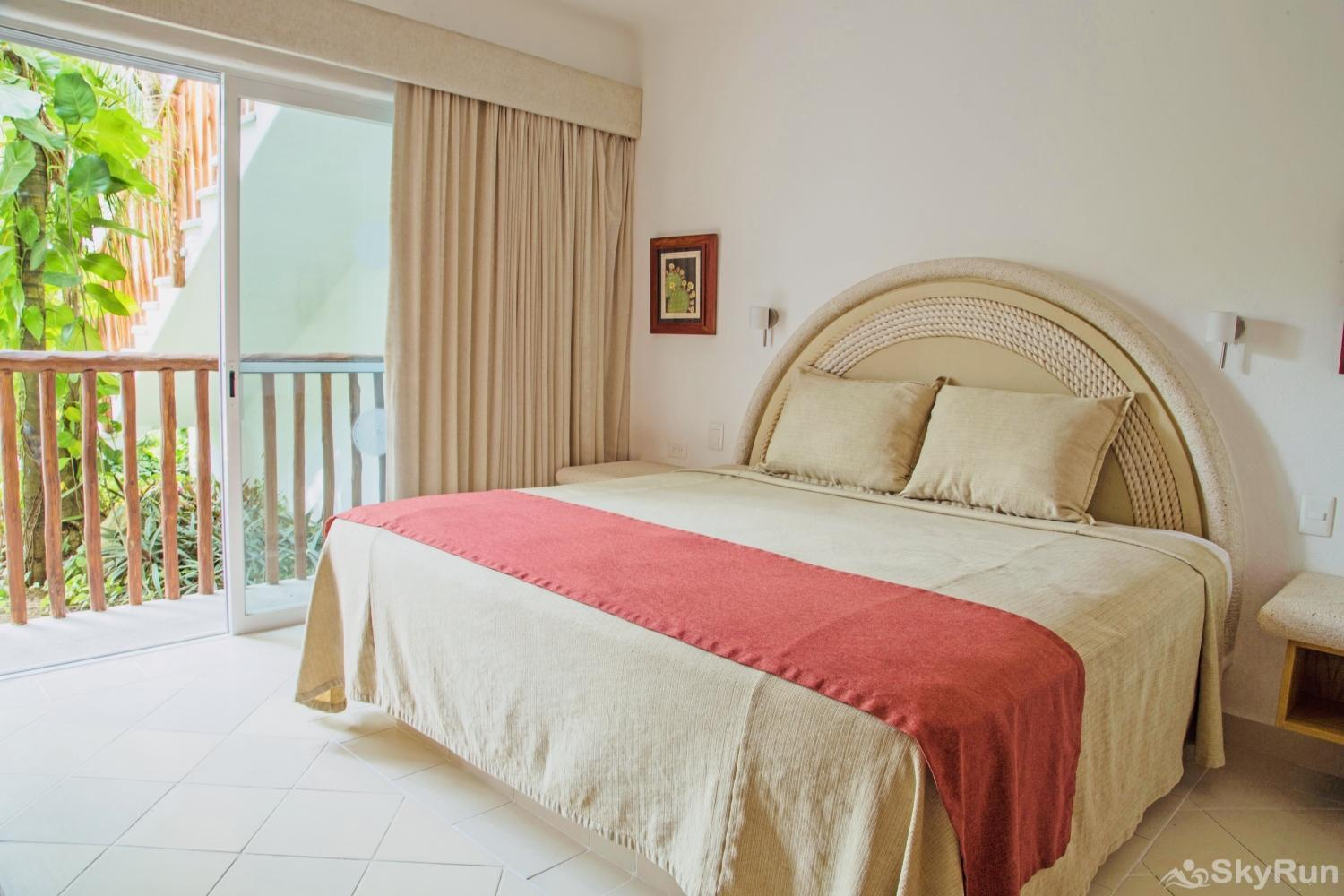 Charming Beachfront Condo Villa in Mexican Caribbean Master King Bedroom