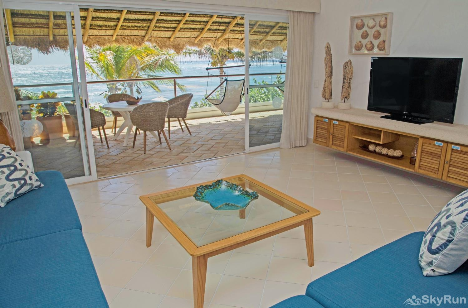 Charming Beachfront Condo Villa in Mexican Caribbean SkyRun Beachfront Villa