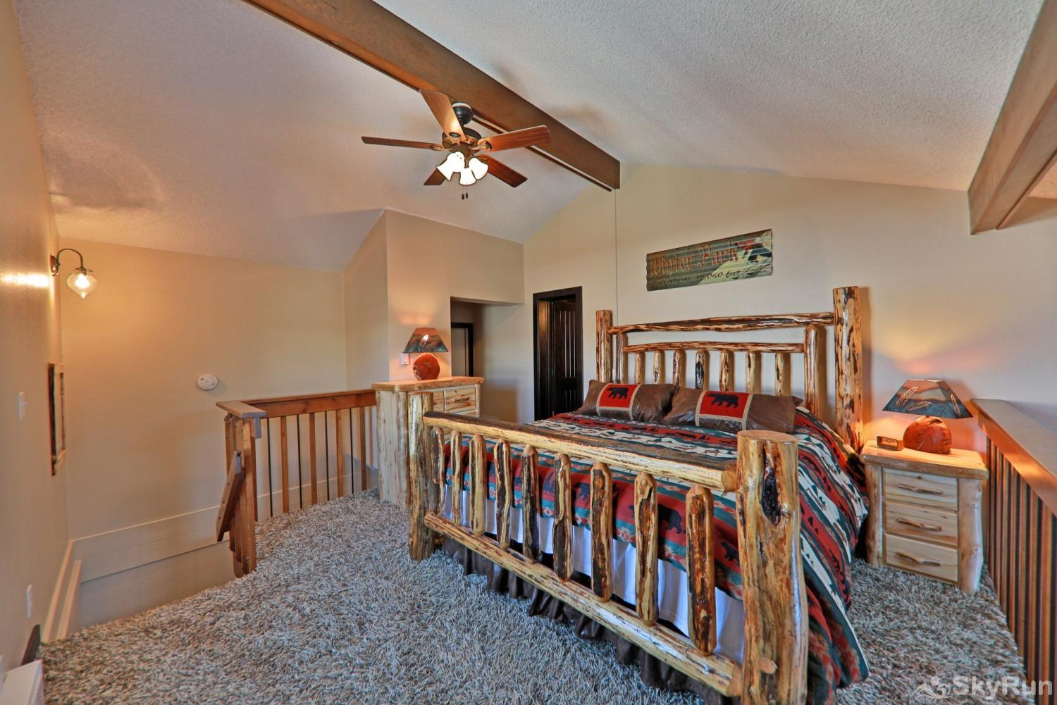 The Pines at Meadow Ridge A12 King Bed in Master Loft