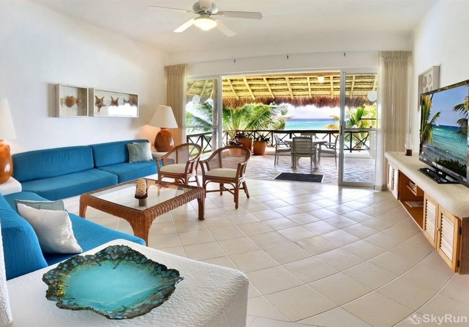 Luxurious Beachfront in Private Location 312 3 Bedroom 2nd Floor New Beachfront Condo near tulum