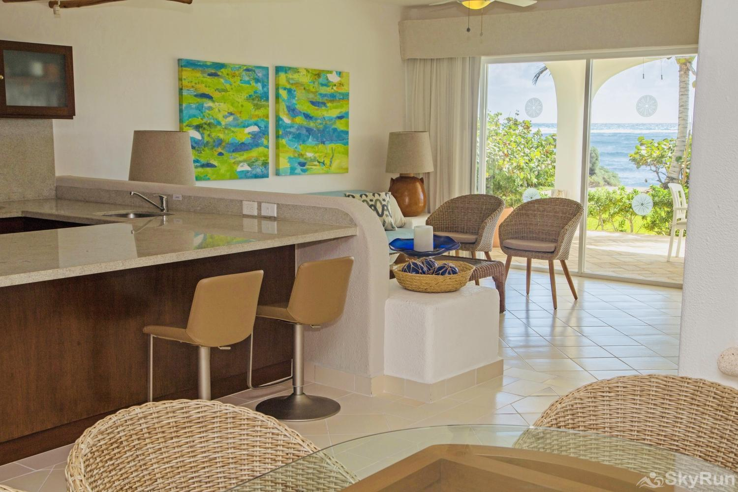 Ocean View Home-craft Condo 213, 3 Bedroom Spectacular Location Kitchen & Dining Room area
