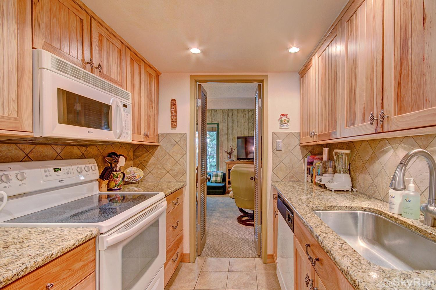 Columbine 102 Fully equipped kitchen updated with modern appliances