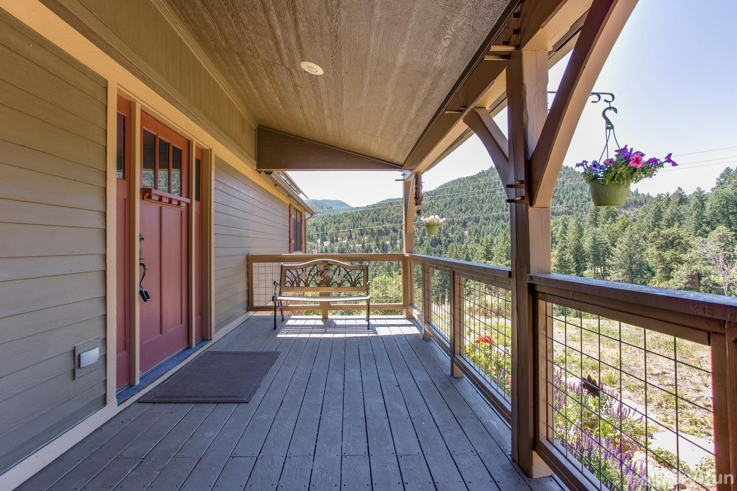 SkyRun Lodge Front Porch