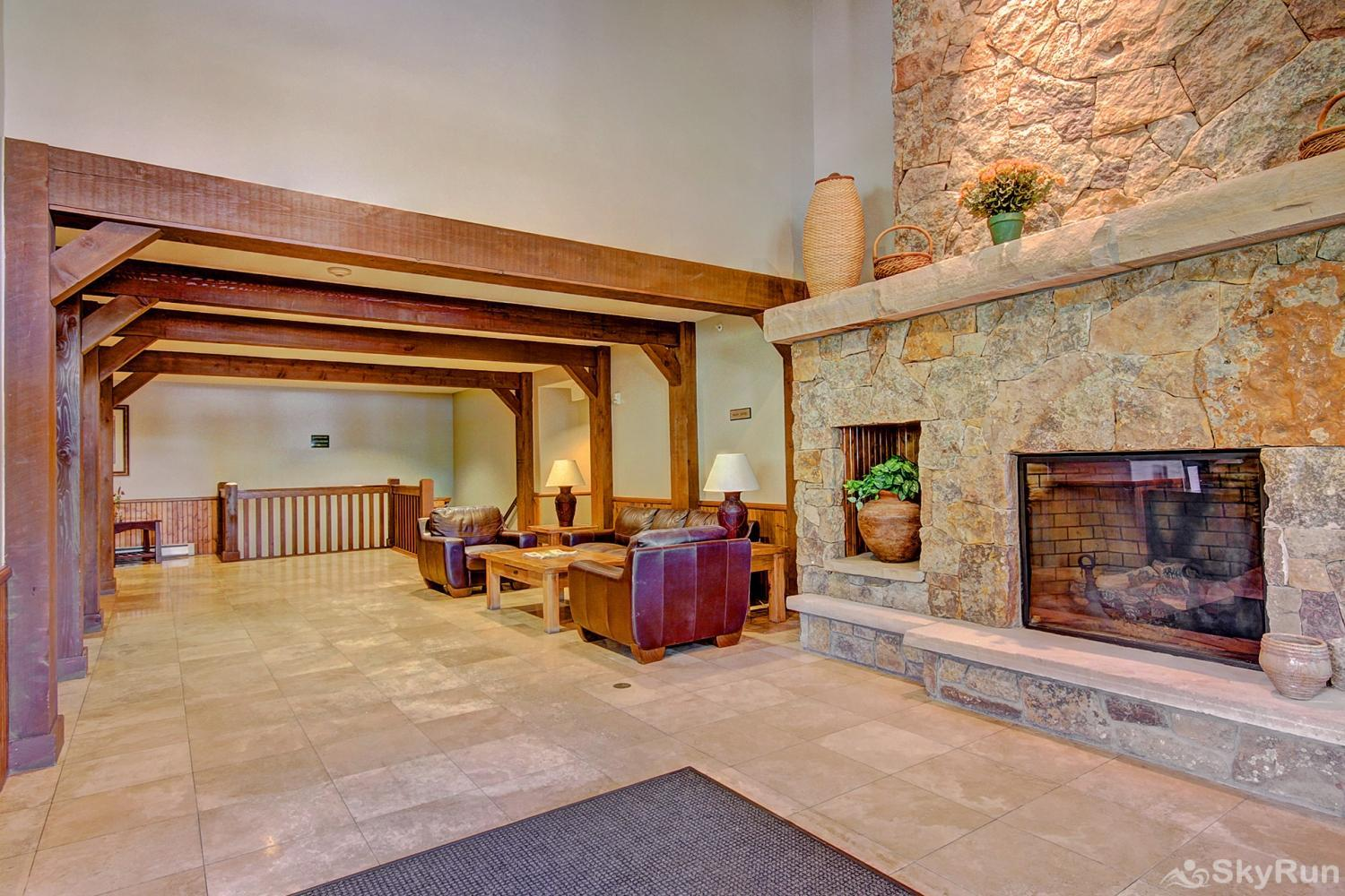Highland Greens Lodge 305 Main lobby with gas fireplace
