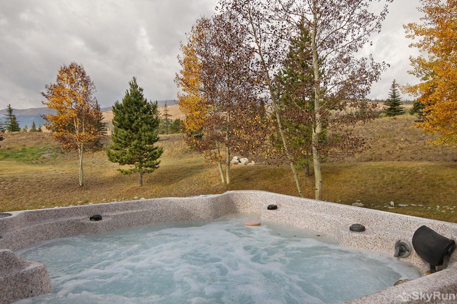 Highland Greens Spruce Enjoy a soak in the hot tub, with a view!