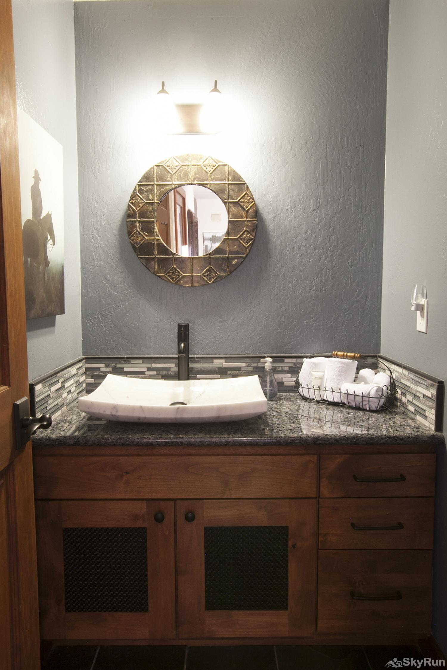 Northstar Luxury Lodgepole Retreat Guest Half Bathroom (main level)