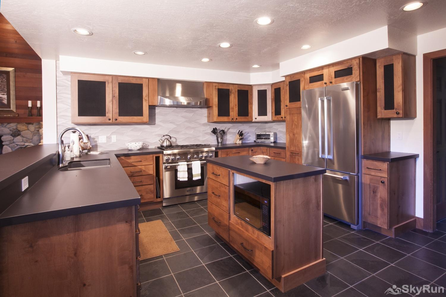 Northstar Luxury Lodgepole Retreat Gourmet Kitchen (main level)
