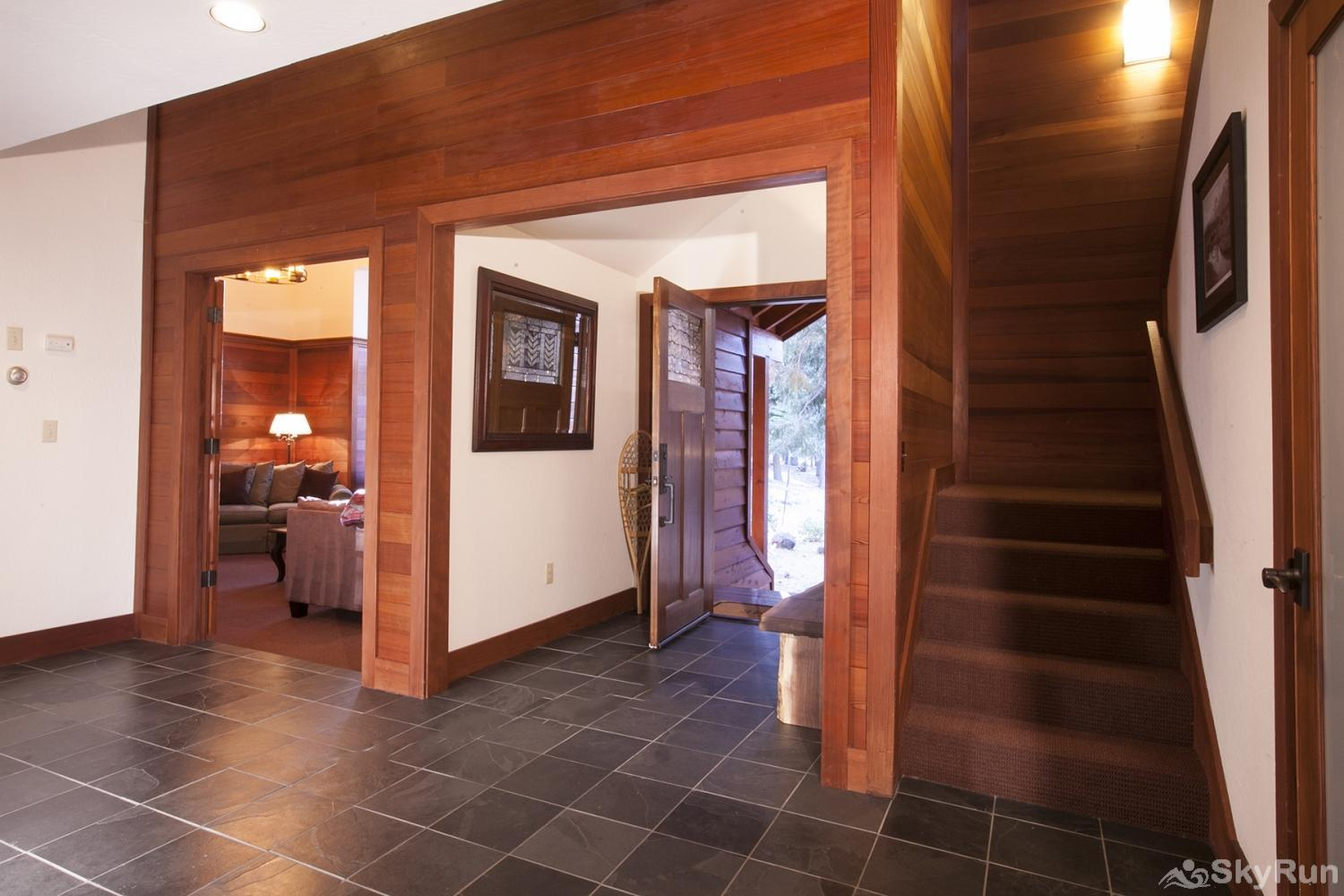 Northstar Luxury Lodgepole Retreat Entrance Area