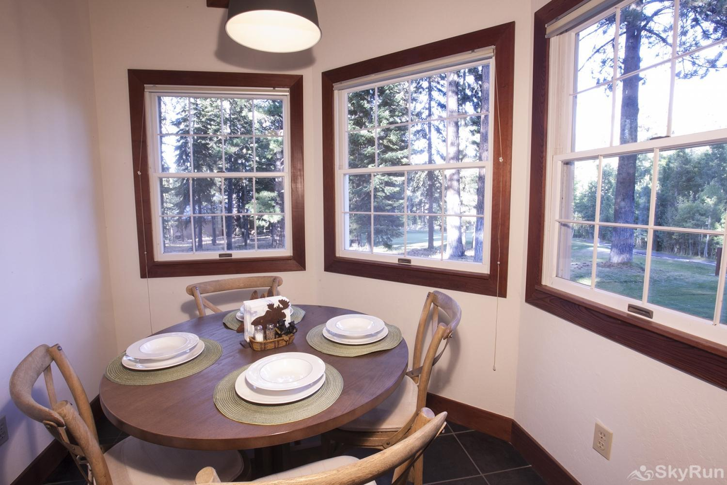 Northstar Luxury Lodgepole Retreat Sunny Breakfast Nook off Kitchen