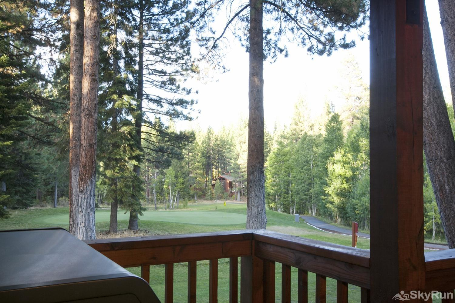 Lodgepole Northstar Luxury Home View of Golf Course from Covered Patio