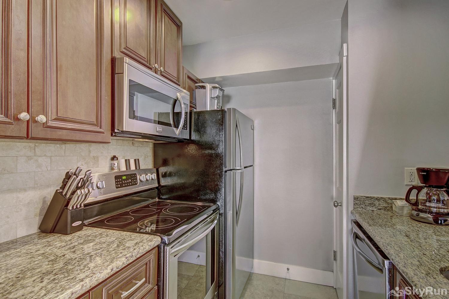 Forest Haus 112 Fully equipped kitchen updated with stainless steel appliances