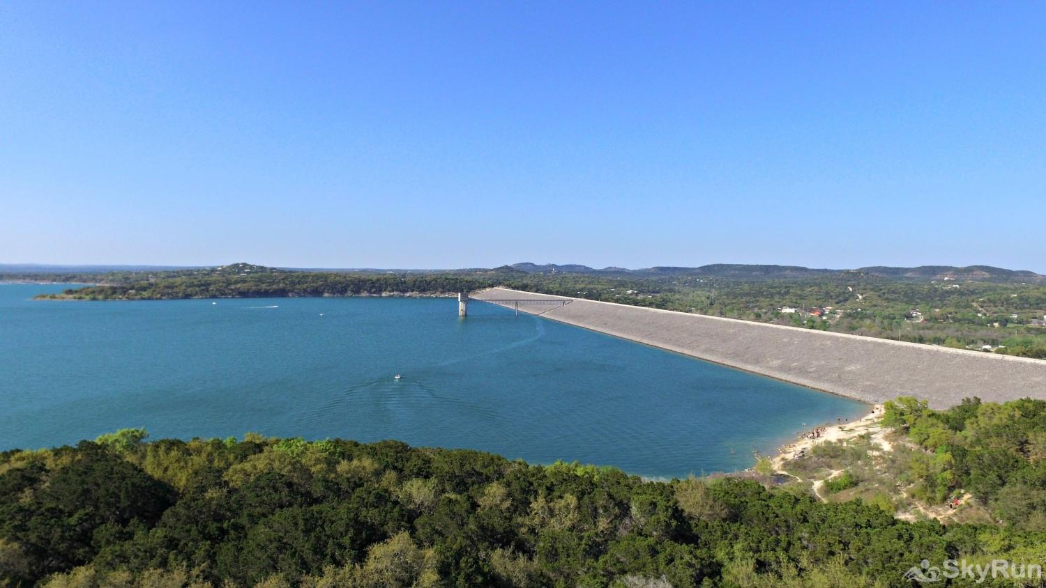 BRAUN RIO Canyon Lake Dam, 4 miles away