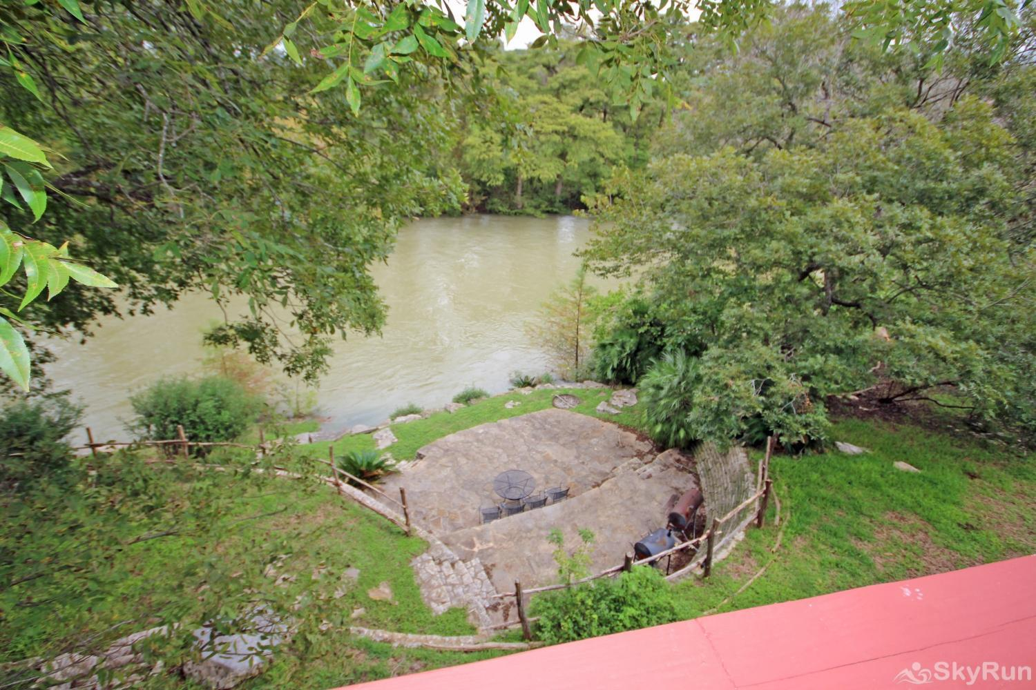 BRAUN RIO Guadalupe River view from upstairs deck