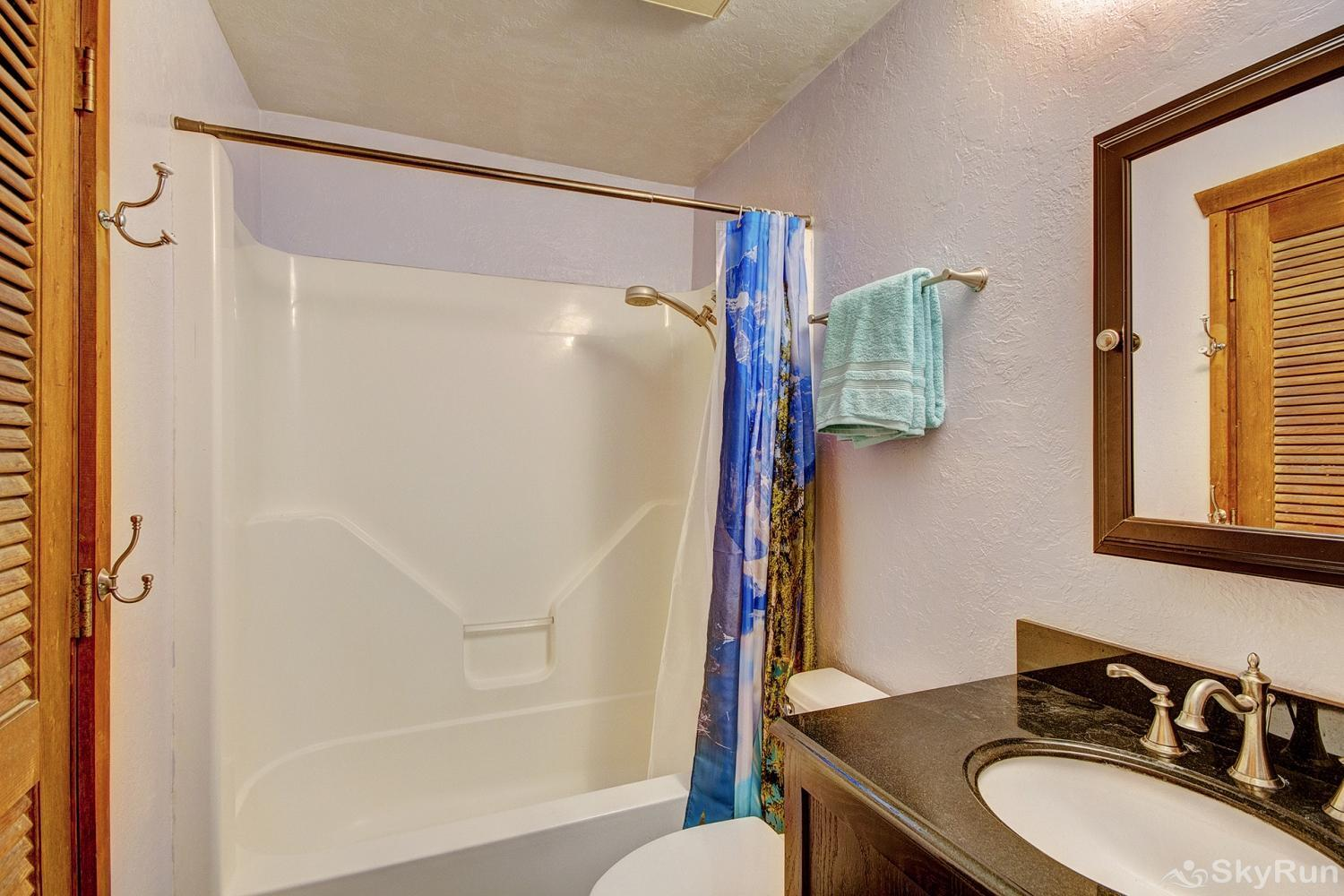 Whispering Pines Lower level full bathroom