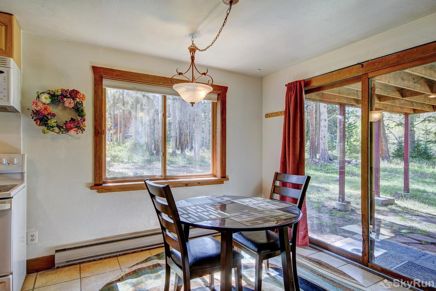 Whispering Pines Seating for 2 at the lower level dining table