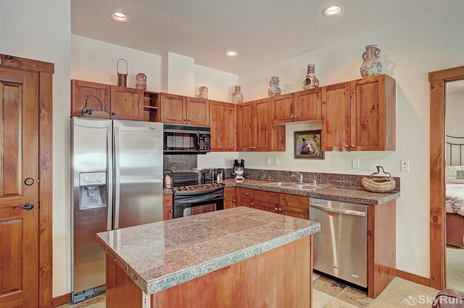 Main Street Station 2203 Fully equipped kitchen updated with stainless steel appliances