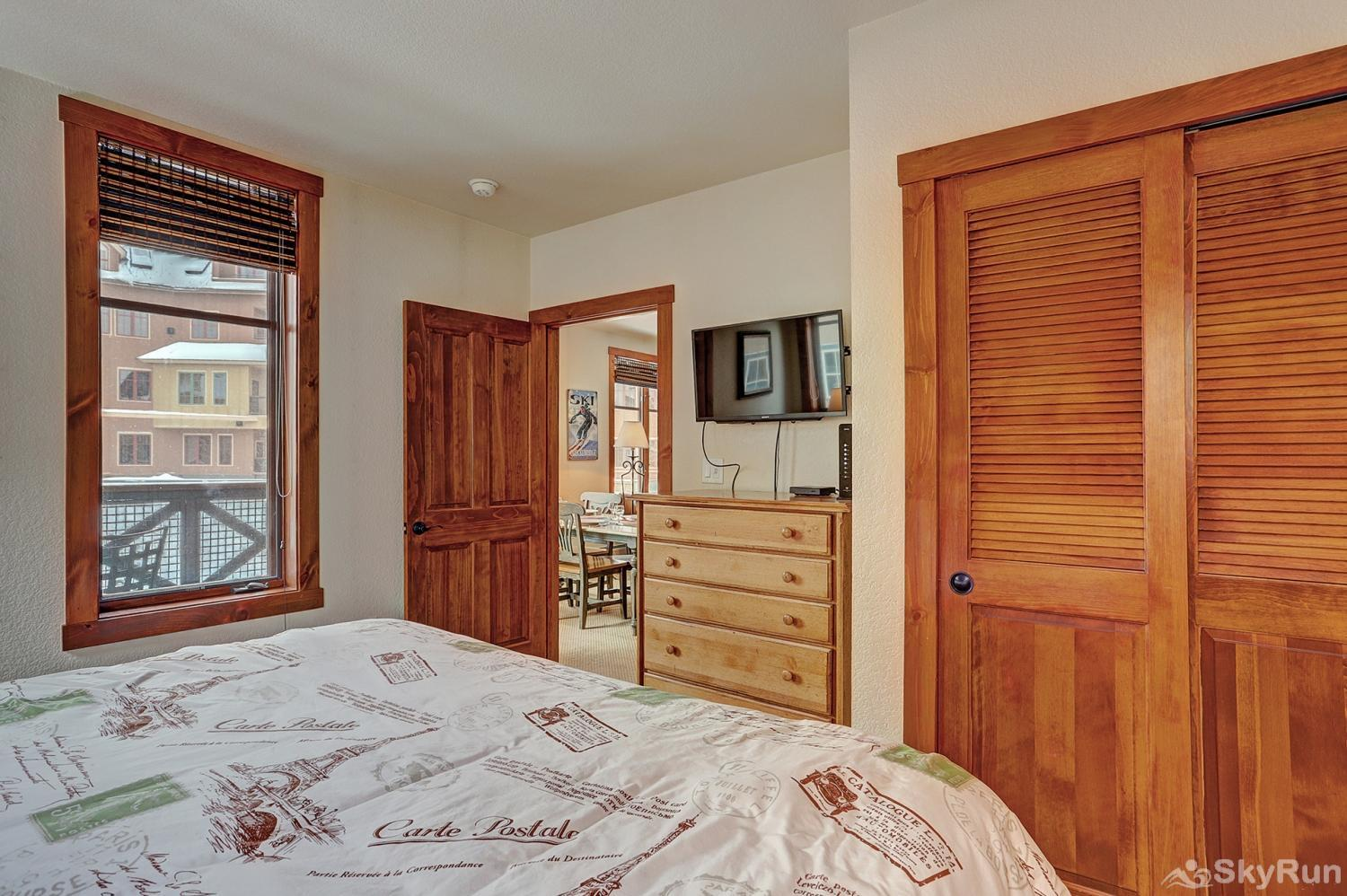 Main Street Station 2203 Second king bedroom with ensuite bath