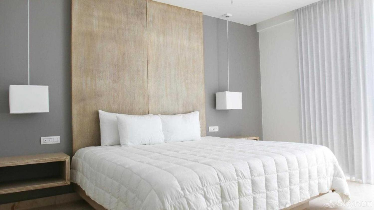 Modern Beach Anah 006D | Playa del Carmen Master king bedroom luxury condo Playa del Carmen